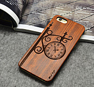 Wooden iphone Case Fashion Street Clock Hard Back Cover for iPhone 6 Plus/6s Plus