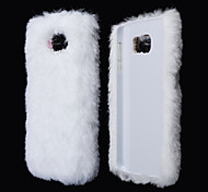 Stylish Plush Fur Style PC Protective Case for Samsung Galaxy S6 (Assorted Colors)