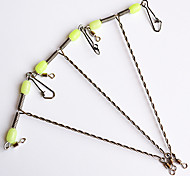 3PCS Hooks with Luminous Beads Sea Fishing