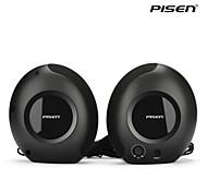 pisen mini Schnecke Lautsprecher Standard verdrahtet 3.5mm Verstärker Lautsprecher für PC, MP3-Player und mehr schwarz