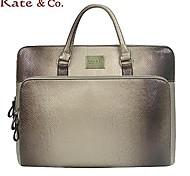 Kate & Co.® Women PVC Laptop Bag Pink / Gold - TH-01565