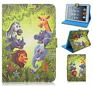 Adorable Animal Totem Around Open with Stand Protective Sleeve for iPad 4/3/2