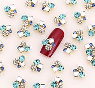 20PCS Nail Art Pearl Gold Jewelry Nail Glitters Party Nail Decorations Alloy Rhinestone Aryclic Nail Tips Decorations