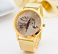 Watch Women Fashion Gold Watches Alloy Belt Elephant Quartz Watches Cool Watches Unique Watches