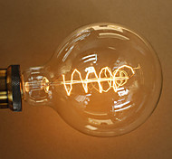 40W E27 Retro Industry Style Transparent Incandescent Bulb