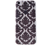 Black Twisted Pattern Transparent TPU Material Soft Thin Cell Phone Case for iPhone 5C