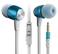 byz K460 (hi-fi bajos pesados) en la oreja los auriculares del teléfono móvil de metal