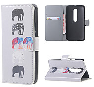 Several Elephants Leather Wallet Flip Stand Cover Case For  Motorola MOTO G3 G 3nd Gen XT1552