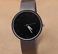 Korean Fashion Men And Black Alloy Mesh With Minimalist Style Dial Leisure Quartz Watch