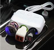 Car Cigarette Lighter Plug Power Adapter Output 120W 3 Dual USB Port Car Cigarette Lighter Socket Splitter Charger 12V