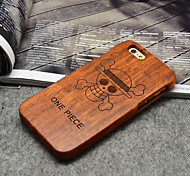 Wood ONE PIECE Pirates Hard Back Cover for iPhone 5/5s