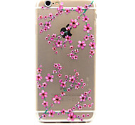 Plum Flower Pattern TPU Cell  Phone Soft Shell  For iPhone 6