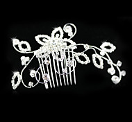 Alloy/Rhinestone Hair Combs Wedding/Party 1pc