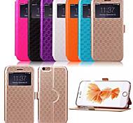 iphone 7 mais ling xadrez padrão de alta qualidade caso de couro carteira pu 5,5 polegadas para iphone 6s 6 mais