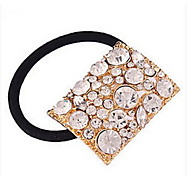 Rhinestone Square Hair Rope Hair Accessories