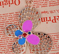 Vintage Butterfly Long Necklace Pendant Choker