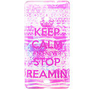 Keep Calm Pattern Glitter Powder TPU Soft Back Cover for Nokia N535