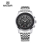 MEGIR®2015 Top Luxury Brand Mens Quartz Watches Strip Fashion Waterproof Wristwatch Point with a Luminous Cool Watch Unique Watch