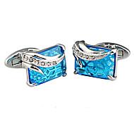 Brass, Zircon Jewelry Material Men Cufflinks