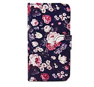 bloemen patroon pu lederen tas met standaard voor de Samsung Galaxy S3 mini i8190 / S4 mini i9190 / S5 mini