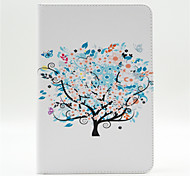 Small Trees And Flowers Pattern PU Leather Full Body Case with Stand and Card Slot for iPad Mini 4