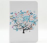 alberi e fiori piccolo modello cuoio dell'unità di elaborazione caso corpo pieno con il basamento e la carta di slot per Mini iPad 4