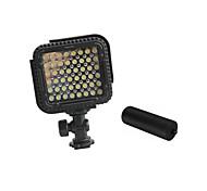cn-lux480 48 leds luz de vídeo lámpara de foto 5600k videocámara Canon Nikon cámara de vídeo / 3200k con asas de metal