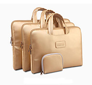 "Gold Portable Carry Sleeve Bag Case Laptop with Little Bag for Macbook Pro/Pro Retina ThinkPad DELL Samsung 13"" 14"" 15"""