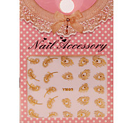 8PCS 3D Gold Nail Art Stickers Decals For Nail Art Stickers
