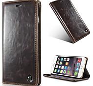 couleur unie PU cuir flip corps entier cas de téléphone avec support pour iPhone 6 plus / 6s, plus de 5,5 pouces