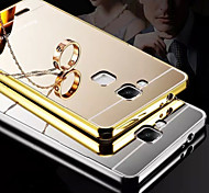 New Plating Mirror Back with Metal Frame Phone Case for Huawei Ascend G7(Assorted Colors)