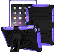 Miitary esercito plastica + gomma siliconica gel 2 in 1 caso duro antiurto con supporto per ipad mini 4 (colori assortiti)