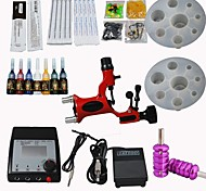 Dragonfly Tattoo Machine Kit Digital Power Supply/ Rotary Gun/ 20 Needles/ Tips/ Inks Supply