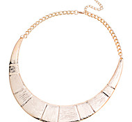 European Style Fashion With Grain Bamboo Joint Alloy Necklace