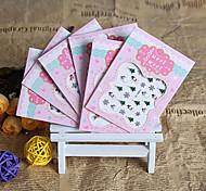 6 PCS Silver  Christmas Series Nail Sticker  Random Color