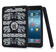 il nouvel iPad mini-1/2/3 modèle g (radium sculpté éléphant). fleur noire