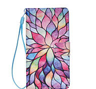 Petal Pattern PU Leather Phone Case For Huawei  P8 Lite