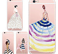 MAYCARI® The Fashion Girls Transparent TPU Back Case for iPhone 6/iphone 6S(Assorted Color)