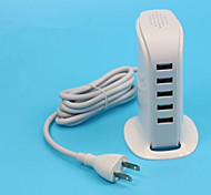 30w 5 Porta USB Power Adapter per tablet / smartphone