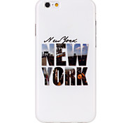Color newYork Pattern TPU  Back Cover Case for iPhone 6/iPhone 6S