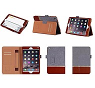 New Fashion Color Simple Flip Card Slot Hand Holder Leather Case Cover for iPad mini 4