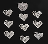 Charms / Pendants Metal Heart Shape As Picture 2-5pcs