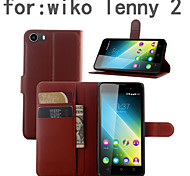 Protective Sleeve Of Litchi Grain Holder For Wiko Lenny 2 Mobile Phone
