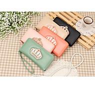 Ms Long Crown Zipper Wallet Clutch Smart Bag for IPHONE 5/5S 6/6S6PLUS/6S PLUS  galaxy S3 S4 HTC
