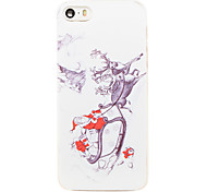 Christmas Style Santa out for Gifts Pattern Transparent PC Back Cover for iPhone 5/5S