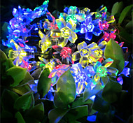 50 LED Decorative String Lights Solar Peach Lights Waterproof Outdoor Christmas Lights String Garden Lights