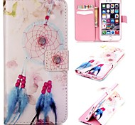Beautiful Bells Pattern Relief PU Leather Wallet Case with Stand and Card Holder for iphone6/6S