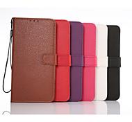 portafoglio grano litchi custodia protettiva per Samsung Galaxy Note 5