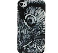oeil d'aigle cas motif de TPU pour iPhone 4G / 4S