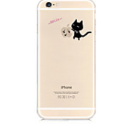 For iPhone 6 Case Pattern Case Back Cover Case Playing with Apple Logo Soft TPU iPhone 6s/6